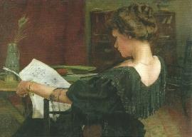 Portret Helen Gow, Alexander Mann