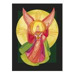 Transparant kaart,  Zegenende engel, Christiane Lesch