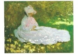 Lezende vrouw, Claude Monet