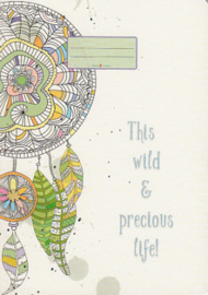 Schriftje This wild & precious life, Taurus journal