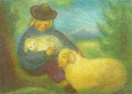 Herder met schapen, Ruth Elsässer
