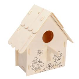 Bouw je eigen vogelhuisje (versie C Bloem en vlinder)