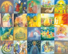 20 kaarten voor de jaarfeesten, verschillende kunstenaars
