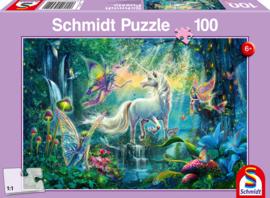 Puzzel 100 stukjes,  Mythisch koninkrijk,   leeftijd 6+