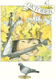 Oktober, maandkaart Lena Anderson