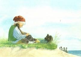 Niels aan zee met gans, Lars Klinting