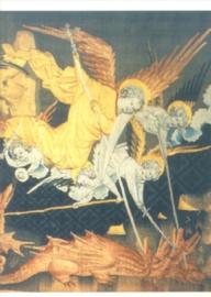 De heilige Michael bestrijdt de draak, Nicolas Bataille, wandtapijt