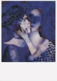 Liefdespaar in blauw, Marc Chagall