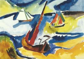 Vissersboten op de Oostzee, Karl Schmidt-Rotluff