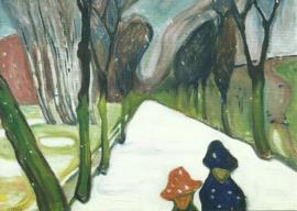 Weg in sneeuwstorm, Edvard Munch