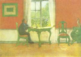 Nascholing in de zomervakantie, Carl Larsson