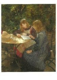Twee meisjes in de tuin, Fritz Uhde