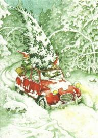 Vrouwen met kerstboom in de auto, Inge Löök