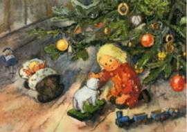 Kind onder kerstboom, Mili Weber