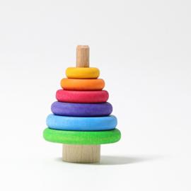 Stapeltoren regenboog steker