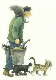 Boer met zijn katten, Marit Törnqvist