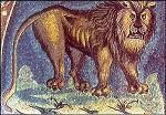 Evangelist Marcus, leeuw, mozaïek