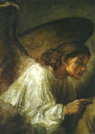 Droom van Jozef (detail), Rembrandt