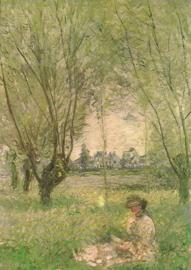 Vrouw onder de wilgen, Claude Monet