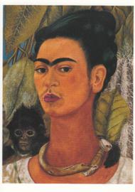 Zelfportret met apen 2, Frida Kahlo
