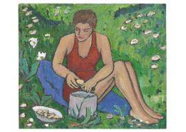 Ellen in het gras, Gabriele Münter