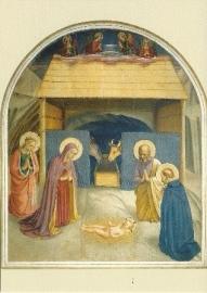 Geboorte van Christus met de heilige Katharina en Petrus, Fra Angelico