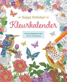Happy birthday! Kleurkalender, Verjaardagskalender om in te kleuren