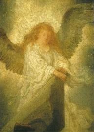 Engel uit opstanding Christus, Rembrandt