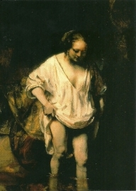 Badend meisje, Rembrandt