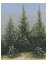 Sparren in sneeuw, Caspar David Friedrich