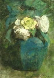 Gemberpot met rozen, Jan Voerman