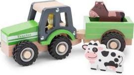 Tractor met aanhanger en speelfiguren - Dieren