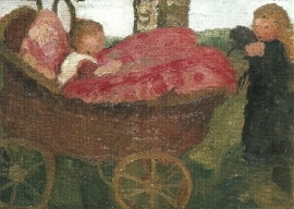 De kinderwagen, Paula Modersohn-Becker