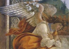 Engel van de verkondiging (detail), Sandro Botticelli