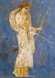 Fresco uit Pompei, Diana, godin van de jacht