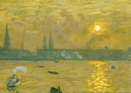 Zonsondergang aan de Alster, Ernst Eitner
