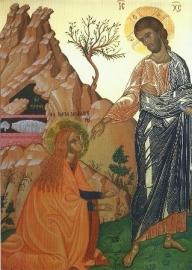 De opgestane en Maria Magdalena, ikoon