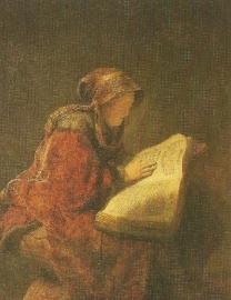 Portret van zijn moeder, Rembrandt