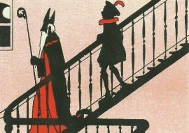 Sint en Piet op trap, D. Hoeksema