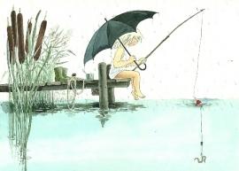 Maja vist in de regen, Lena Anderson