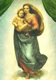 poster Sixtijnse madonna, Rafael, uitsnede