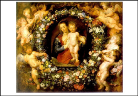Madonna in bloemenkrans, Peter Paul Rubens