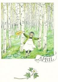 April, maandkaart, Lena Anderson