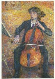 Cello spelende vrouw, Jo Koster