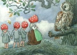 Kabouterkinderen bij uil, Elsa Beskow