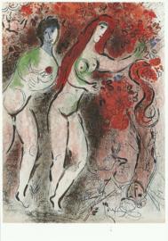 Adam en Eva en de verboden vruchten, Marc Chagall