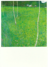 Boerderij met berken, Gustav Klimt