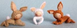 Drie konijntjes (zelfmaakpakketje)
