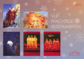 Vijf prachtige kerstkaarten II, verschillende kunstenaars