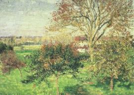 Herfstmorgen in Eragny, Camille Pissarro